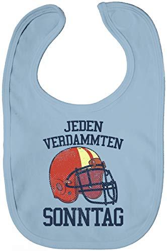 ShirtStreet American Football Gruppen Fan Lätzchen Baumwolle Baby Bib Jungen Mädchen Jeden verdammten Sonntag 2, Größe: onesize,Dusty Blue