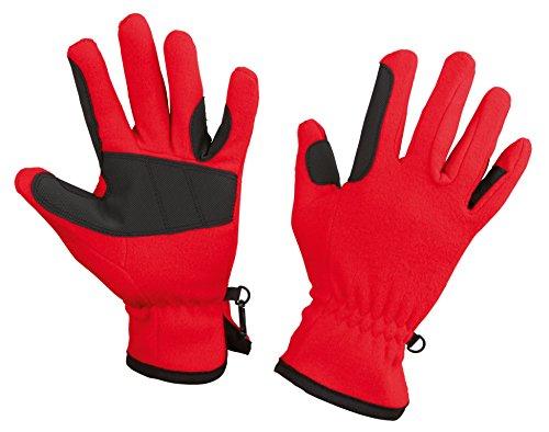Kerbl Handschuhe Fleece-Reithandschuhe, Rot, L, 323863