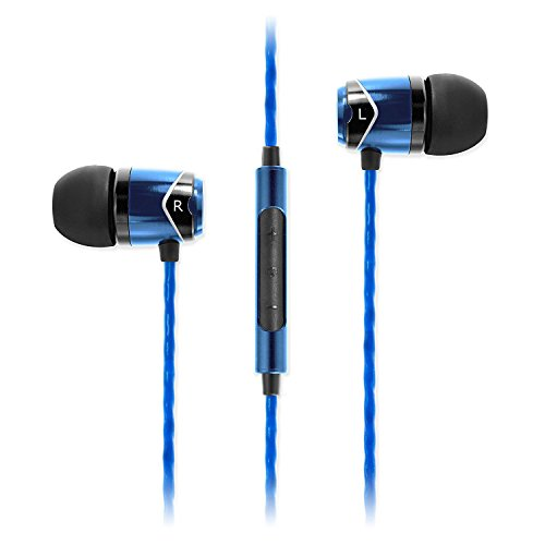 Soundmagic E10C in-Ear Wired Headphones with Mic (Blue)