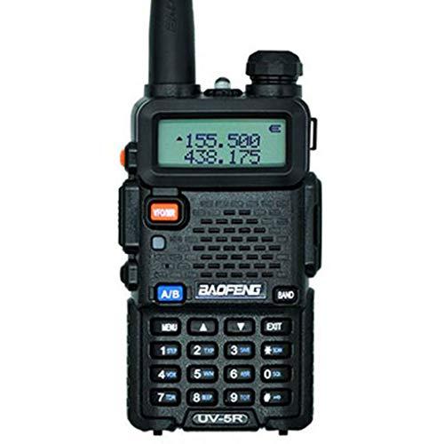 Brucelin Talkie Walkie Baofeng Uv-5r, Walkie Talkie profesional recargable, transmisor de estación de radio CB, portátil UHF VHF 5 W negro