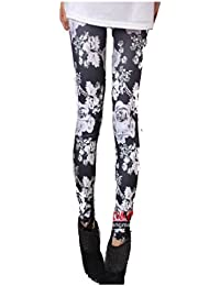 LSWA Destress Tattoo Leggings Magazine Print Style Comic Destroy Graffiti Muster (Y1005)