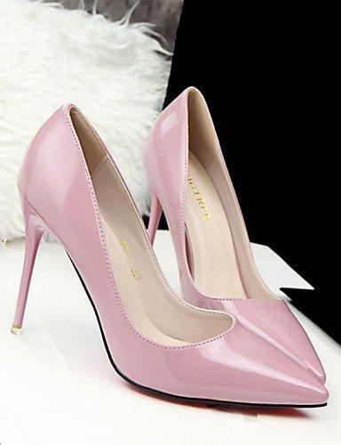 WSS 2016 Chaussures Femme-Décontracté-Noir / Vert / Rose / Violet-Talon Aiguille-Talons-Talons-PU black-us7.5 / eu38 / uk5.5 / cn38