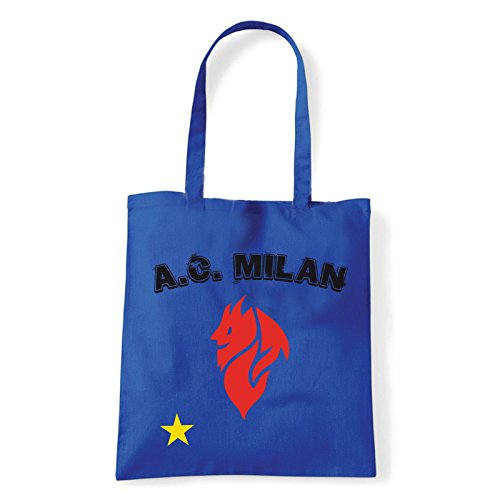 Art T-shirt, Borsa Shoulder Milan Evil, Shopper, Mare Blu