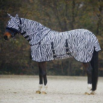 Waldhausen Fliegendecke Zebra. 105 cm, schwarz/weiß, 105 cm