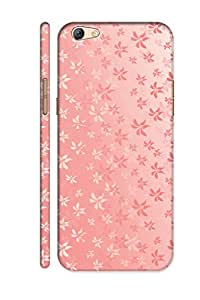 AMAN Leaf Pattern Line 3D Back Cover for Oppo F3 Plus