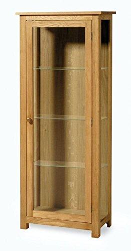Essentials Eiche Vitrine–Glas - Traditionelle Holz-vitrine