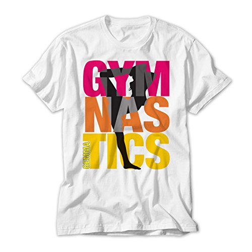 Gymnastics Kids T Shirt Personalised With Your Childs Name. Avalable In Sizes 2 to 12 yrs