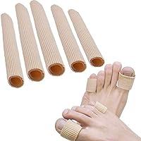 sumifun 5 pcs protectores de dedos tubos tela funda con forro de Gel Pad (1