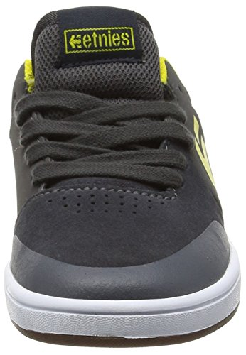 Etnies Marana, Chaussures de Skateboard mixte enfant Grey (Grey/Yellow360)