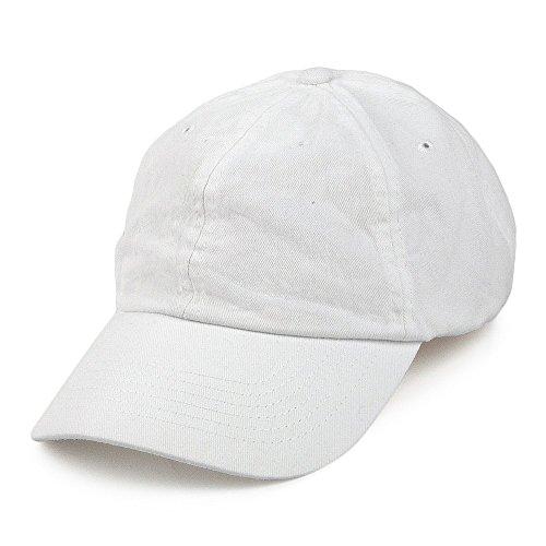 Village Hats Casquette en Coton Délavé Blanc - Ajustable