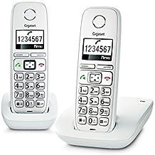 Gigaset E260 Duo Telefono 2 Cordless, Tasti Grandi, Numeri sul
