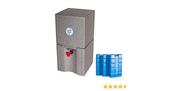 Silber Bier K/ühlhaltevorrichtung f/ür das 5 Liter Partyfass Cooling Cubes Goofy Foot