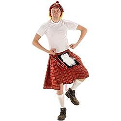 Falda Escocesa Disfraz Fiestas temáticas. Talla Unica
