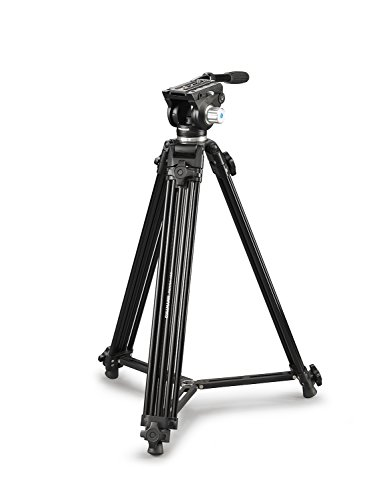 Cullmann Terra 460 Kamera/Video Stativ mit 2-Wege-Fluid Kopf, 172,5 cm schwarz