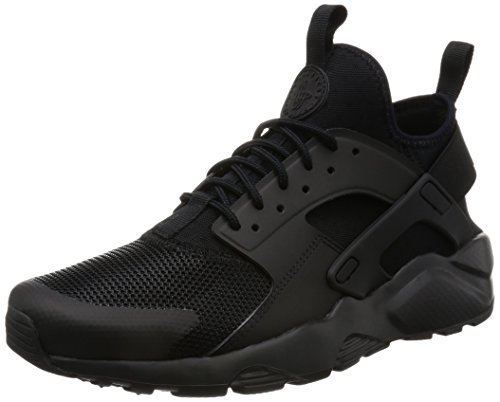 Nike, air huarache run ultra, scarpe running, uomo, nero (black 002), 43 eu