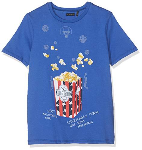 IKKS Junior T Shirt Bleu Electrique Pop Corn 45, 4 Ans (Taille Fabricant:4A) Garço