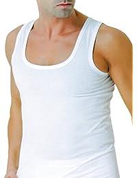 4er Pack Herren Unterhemd Achselhemd in Feinripp, ohne Seitennähte (Seamless), aus Baumwolle, hergestellt nach -ÖKO Tex Standard 100 - deutsches Zertifikat