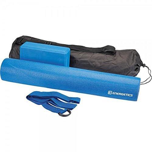 Energetics Yoga Set 145273 Fitness Workout Matte Block Gurt Tasche Blau Neu