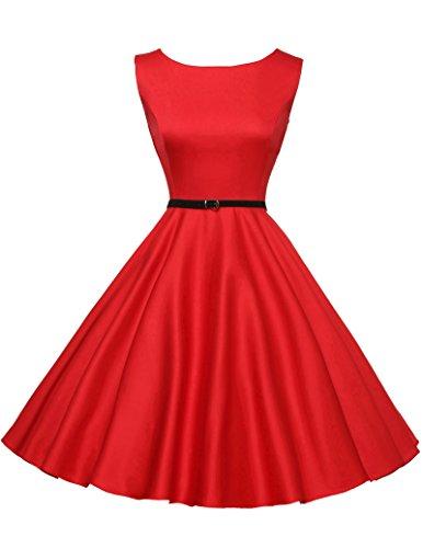 50er jahre kleid rockabilly kleid vintage abendkleid ballkleider knielang sommerkleid Größe S CL6086-12 Kurzes Kleid Vintage Rock