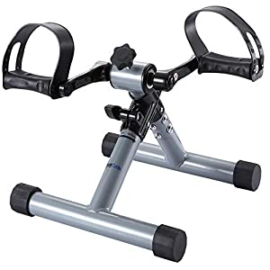 FITODO Pedaliera Pedal Trainer Mini Cyclette per Riabilitazione Pieghevole(Grigio Argento)