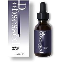 Retinol Serum von D.obsessed - Beste Behandlung für Akne, Narben, Flecken, feine Linien und Falten - Einzigartige Mischung aus 2.5% Retinol, Hyaluronsäure, und Vitamin C - für Gesicht, Auge und Hals (30ml)