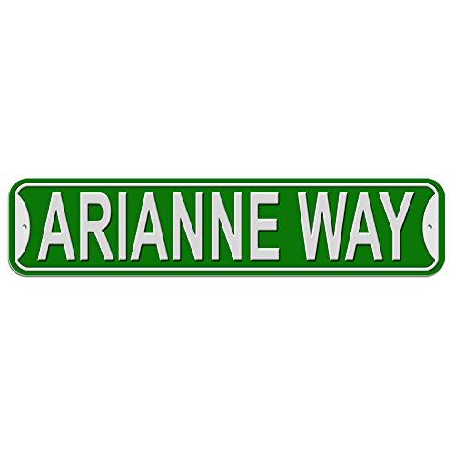 Arianne Schild–Kunststoff Wand Tür Street Road weiblich Name, plastik, grün, Way