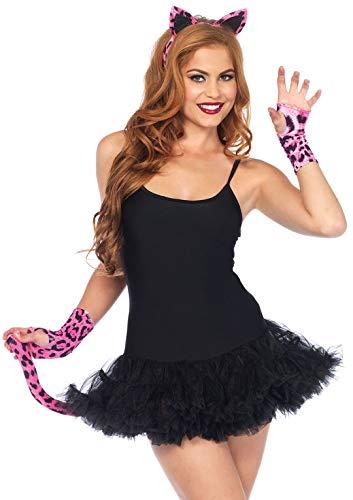 Kostüm Leopard Kit Rosa - Leg Avenue A1974 - Neon Leopard Kit, Einheitsgröße, rosa