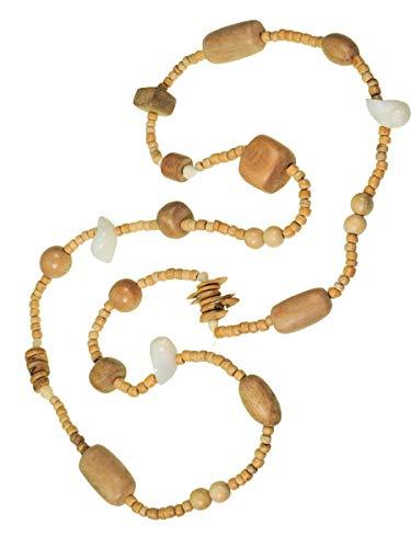 Simone Erto Damen Halskette HK-31 beige -