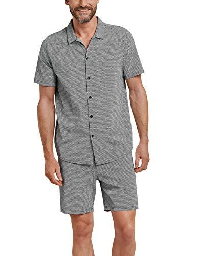 Schiesser Herren Pyjama Kurz Zweiteiliger Schlafanzug, Blau (Dunkelblau 803), XX-Large (Herstellergröße: 056) -