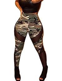 Ninimour Sexy Damen Bunt Elastische Camouflage Leggings Leggins Hüfthose Hose One Size Mehrfarbig M