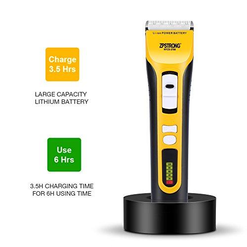 Tagliacapelli elettrico uomo professionale tosatrice ricaricabile rasoio da barba per peli del naso con led display della batteria, 25w(nero giallo)