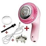 DISPOSITIVO di rimozione pelucchi, maglione elettrico portatile rasoio pelucchi, con cavo di ricarica USB, fluff Fuzz Bobble lanugine rasoio per maglioni di lana vestiti ponticelli e moquette,Pink