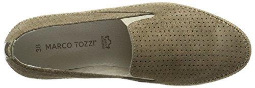 Marco Tozzi Premio Damen 24616 Slipper Braun (Taupe Comb 344)