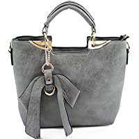 a189251e590a LeahWard® Women s Faux Leather Tote Grab Handbags Shoulder Bags With Bow 32