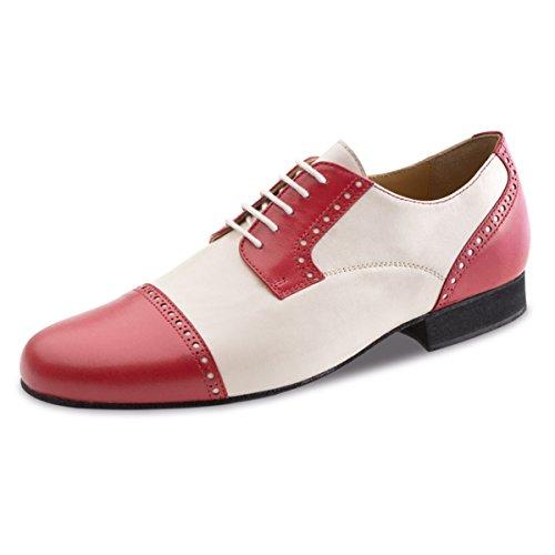 Werner noyau, Chaussures de danse homme 28051cuir [Largeur normale] Rot/Creme