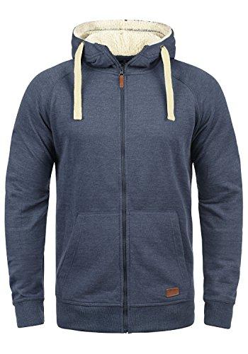 BLEND Speedy Teddy Herren Sweatjacke Kapuzen-Jacke Zip-Hoodie aus hochwertiger Baumwollmischung, Größe:XL, Farbe:Navy Teddy (74653) (Kapuzen-jacke)