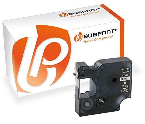 Bubprint Schriftband kompatibel für Dymo 45021 S0720610 für Labelmanager 100 120P 150 160 210D 220P 260P 280 300 350 360D 400 420P 450 500TS 12mm x 7m -