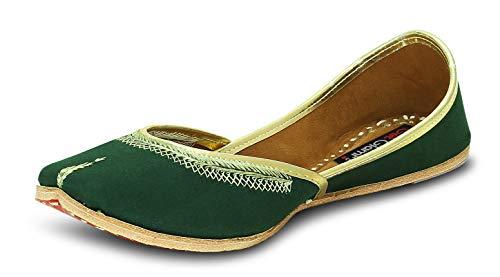 Get Glamr Women's Green Juttis, LT-JT-09-40-...