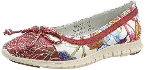 Dexter Red Schuhe (Laura Vita Damen Dexter 01 Geschlossene Ballerinas, Rot (Rouge) 36 EU)