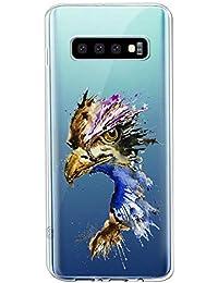Oihxse Compatible con Samsung Galaxy A9s 2018/A9 Pro 2018 Funda Suave Gel TPU Silicona Cristal Transparente Carcasa Acuarela Animal Pintado Patrón Protectora Estuche Bumper Caso Case (B7)