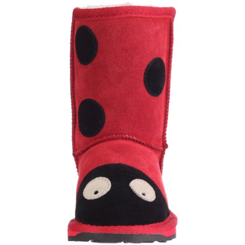 Emu Australia Little Creatures Ladybird, Chaussures basses mixte enfant Rouge (Red)