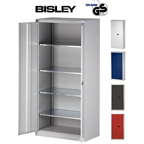 BISLEY Aktenschrank | Werkzeugschrank | Flügeltürenschrank Tiefe =50 cm - aus Metall abschließbar...