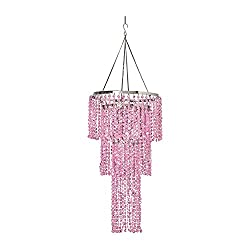ZAPPOBZ HLL1103 Jeweled Tiered Chandelier, Pink