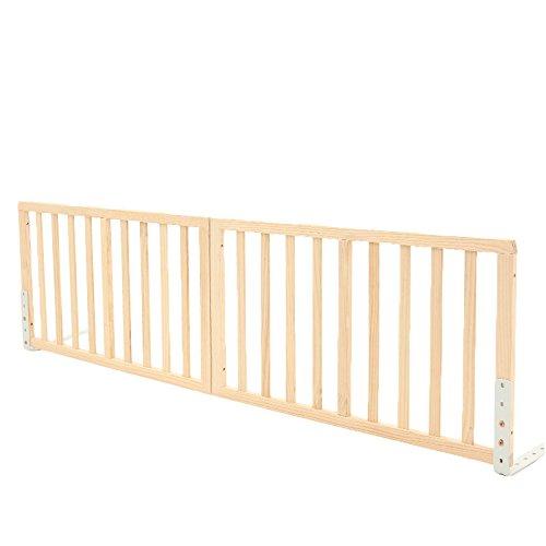 Children safety rails LVZAIXI Einfache natürliche hölzerne Bett-Schiene (Farbe : 01, größe : 200 * 69cm) -