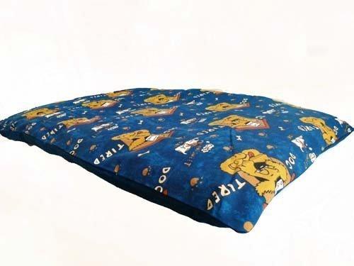Große Hunde Bett mit abnehmbarer Bezug mit Reißverschluss waschbar Pet Kissen-Blau -