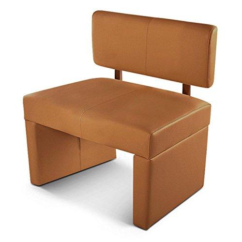 SAM® Esszimmer Sitzbank Sander, 80 cm, in cappuccino, Sitzbank mit Rückenlehne aus Samolux®-Bezug, angenehmer Sitzkomfort, frei im Raum aufstellbare Bank