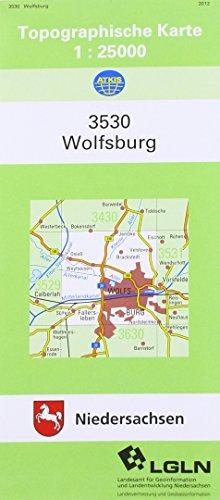 Topographische Karte von Wolfsburg