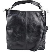 Bolso de de cuero bolso de piel de mujer negro bolso de espalda