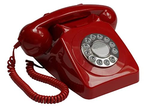 GPO 746 Push Button Retro Telephone with Authentic Bell Ring