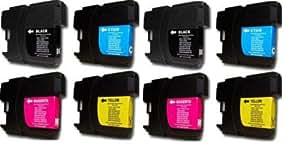 10 XL Patronen kompatibel zu Brother LC 985 LC 39 Sparset - 4x schwarz & je 2x cyan magenta yellow